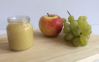 Recette Compote pomme raisin pour bébé